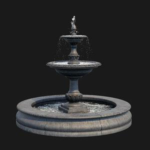 charleston outdoor water fountain 3D model