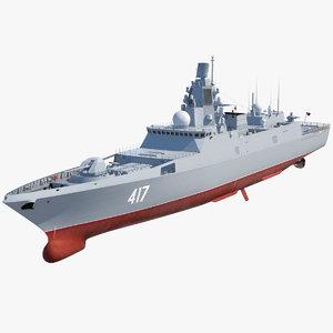 frigate admiral gorshkov project model