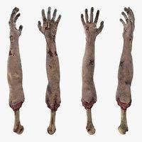 3D zombie arms single