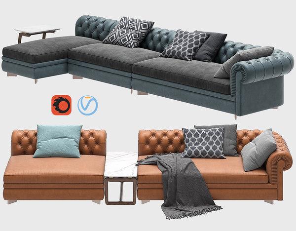 sofa chester line renzo 3D model