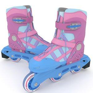 roller skates kepai 3D model