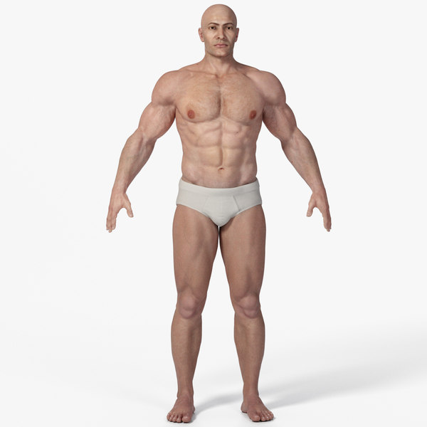 3D photorealistic male character realistic