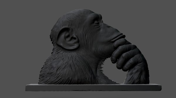 chimpanzee statue model