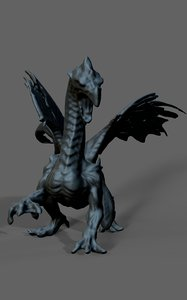 ice dragon statue model