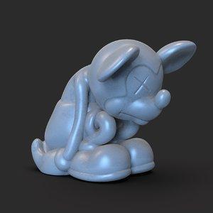 3D model sad mickey