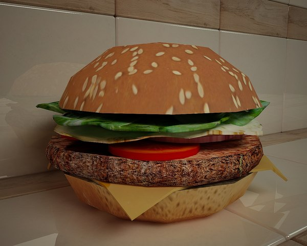 3D model hamburger burger