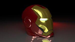 3D ironmans helmet