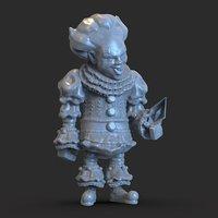 3D clown figure model