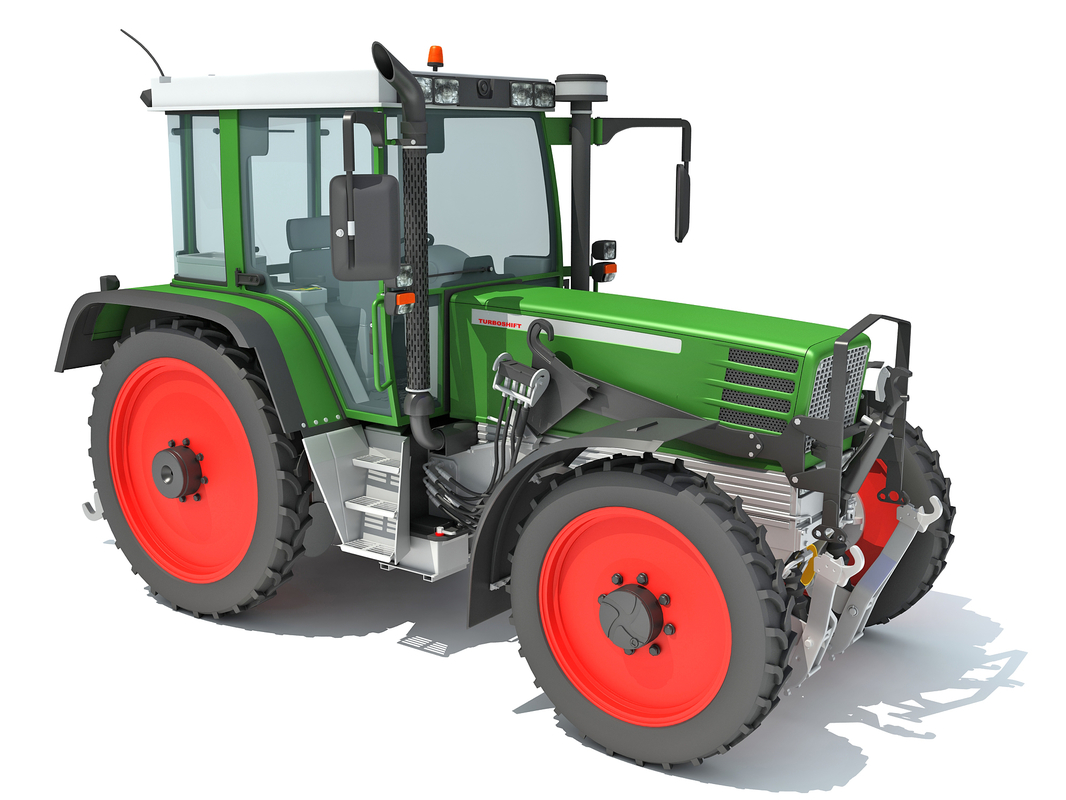 tractor agricultural 3D
