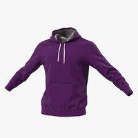 3D hoodie lowered hood