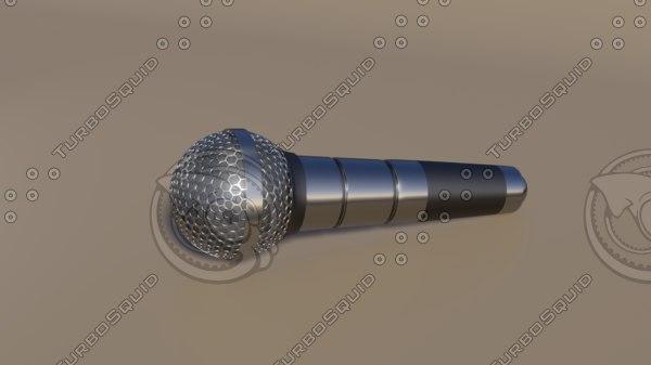 3D microphone blender eevee