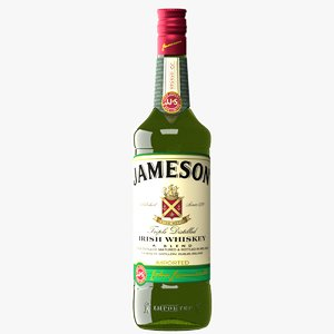 realistic jameson irish wiskey 3D model