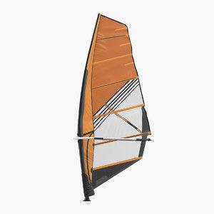 sport windsurf mast sail 3D