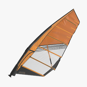 sport windsurf mast sail 3D model