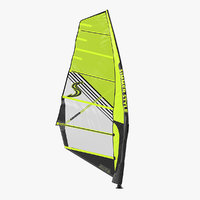 windsurf mast sail surfing 3D model
