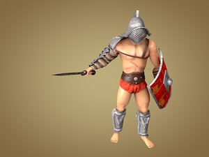 3d model gladiator murmillo