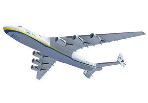 antonov an-225 mriya aerial 3D model