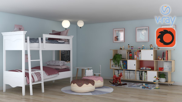 children child room 3D model
