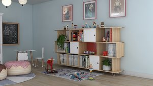 children child room 3D model