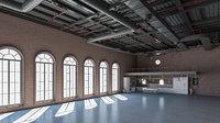 loft interior scene 3D