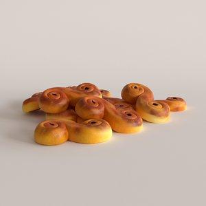 3D saffron buns model