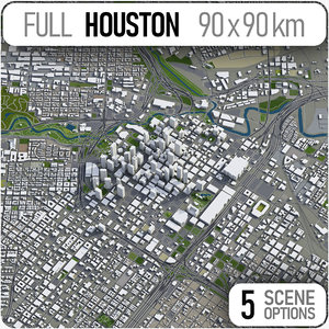 3D houston texas area