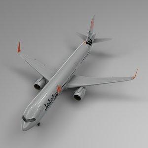 3D airbus a321 neo jetstar