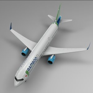 3D airbus a321 neo bamboo model
