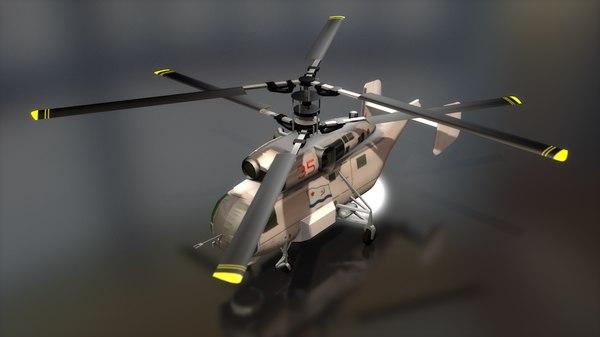 3D russian navy kamov ka-27