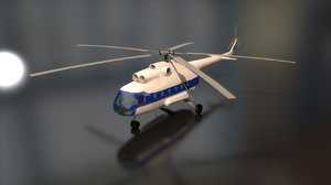 3D russian transport helicopter mil model