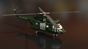 3D model arospatiale sa 330 puma