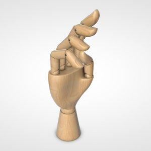 3D mannequin hand model