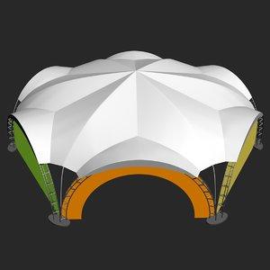 3D exhibition tent