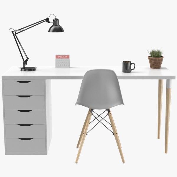 real modern desk model
