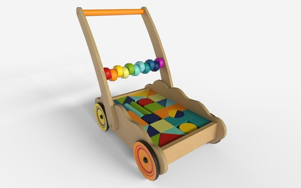 3D model block wood baby
