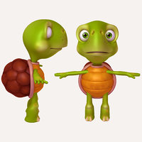 3D turtle cartoon