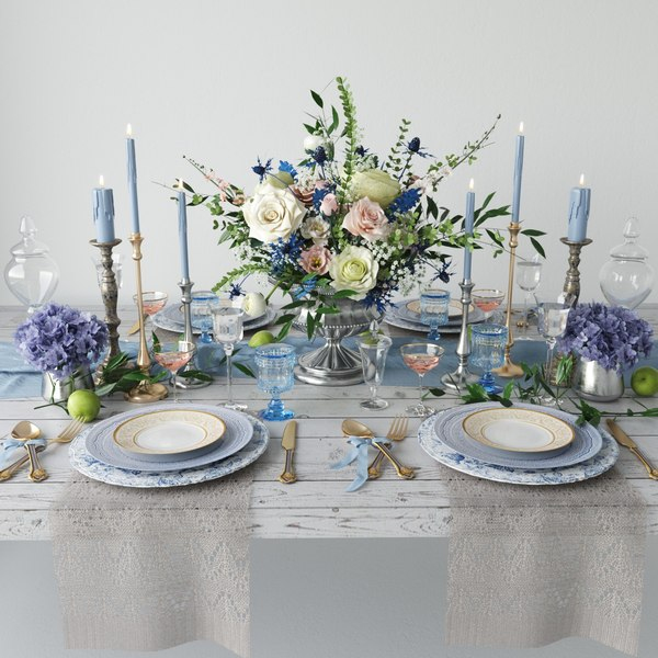 3D provance table setting