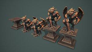 3D statue gargoyle