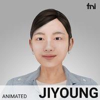 rigged female - 3D model