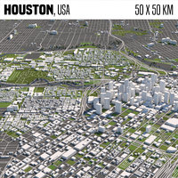 Houston 50x50km
