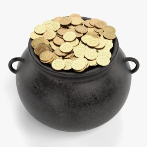 pot money 3D model