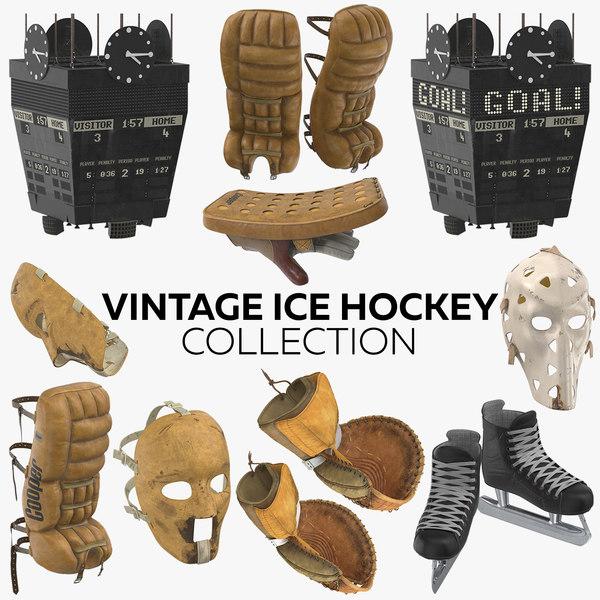 vintage ice hockey model