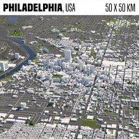 Philadelphia 50x50km