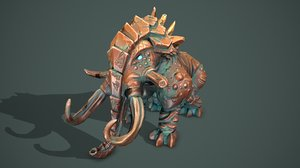 3D mammoth statue