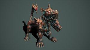 cerberus cerber statue 3D model