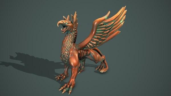griffon statue 3D model