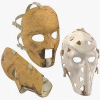 3D old hockey masks