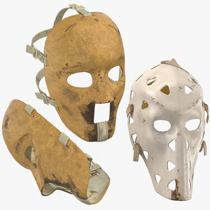 3D old hockey masks