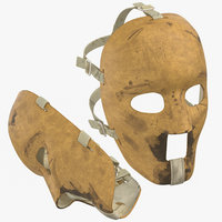 3D model old hockey mask poses