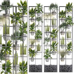 3D vertical garden plants palm